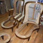 Fotele po ściągnięciu starej tapicerki 3